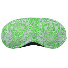 Damask2 White Marble & Green Watercolor (r) Sleeping Masks by trendistuff