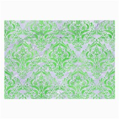 Damask1 White Marble & Green Watercolor (r) Large Glasses Cloth by trendistuff