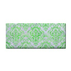 Damask1 White Marble & Green Watercolor (r) Hand Towel by trendistuff