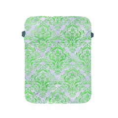 Damask1 White Marble & Green Watercolor (r) Apple Ipad 2/3/4 Protective Soft Cases by trendistuff