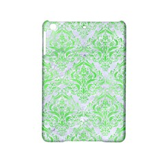 Damask1 White Marble & Green Watercolor (r) Ipad Mini 2 Hardshell Cases by trendistuff
