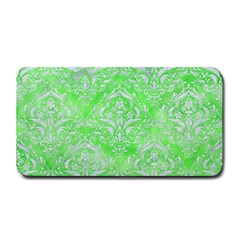 Damask1 White Marble & Green Watercolor Medium Bar Mats by trendistuff