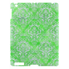 Damask1 White Marble & Green Watercolor Apple Ipad 3/4 Hardshell Case by trendistuff