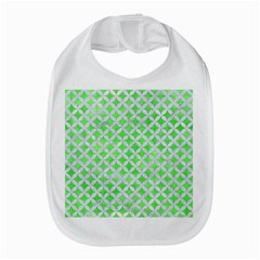 Circles3 White Marble & Green Watercolor Bib by trendistuff