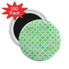 Circles3 White Marble & Green Watercolor 2 25  Magnets (100 Pack)