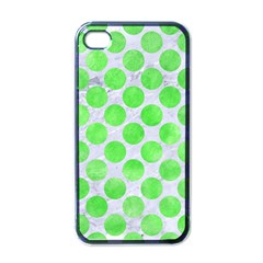 Circles2 White Marble & Green Watercolor (r) Apple Iphone 4 Case (black) by trendistuff