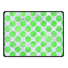 Circles2 White Marble & Green Watercolor (r) Double Sided Fleece Blanket (small)  by trendistuff