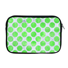 Circles2 White Marble & Green Watercolor (r) Apple Macbook Pro 17  Zipper Case by trendistuff