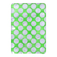 Circles2 White Marble & Green Watercolor Samsung Galaxy Tab Pro 12 2 Hardshell Case by trendistuff