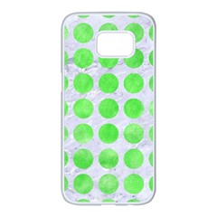 Circles1 White Marble & Green Watercolor (r) Samsung Galaxy S7 Edge White Seamless Case by trendistuff