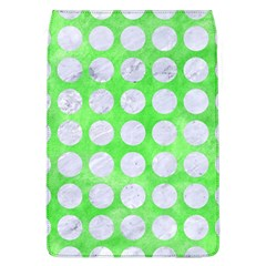 Circles1 White Marble & Green Watercolor Flap Covers (l)  by trendistuff