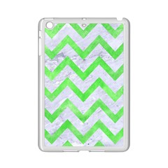 Chevron9 White Marble & Green Watercolor (r) Ipad Mini 2 Enamel Coated Cases