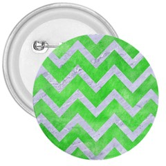 Chevron9 White Marble & Green Watercolor 3  Buttons by trendistuff