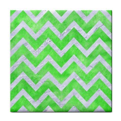 Chevron9 White Marble & Green Watercolor Face Towel by trendistuff