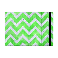 Chevron9 White Marble & Green Watercolor Ipad Mini 2 Flip Cases by trendistuff