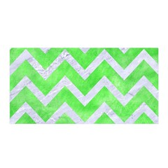 Chevron9 White Marble & Green Watercolor Satin Wrap by trendistuff