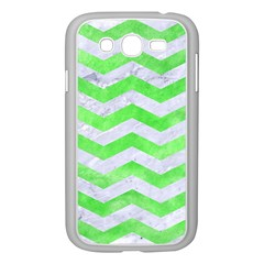 Chevron3 White Marble & Green Watercolor Samsung Galaxy Grand Duos I9082 Case (white) by trendistuff