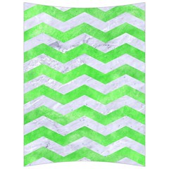 Chevron3 White Marble & Green Watercolor Back Support Cushion by trendistuff