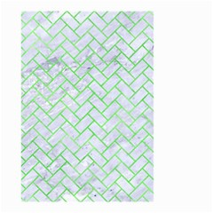 Brick2 White Marble & Green Watercolor (r) Small Garden Flag (two Sides) by trendistuff