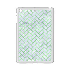 Brick2 White Marble & Green Watercolor (r) Ipad Mini 2 Enamel Coated Cases by trendistuff