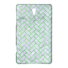 Brick2 White Marble & Green Watercolor (r) Samsung Galaxy Tab S (8 4 ) Hardshell Case  by trendistuff