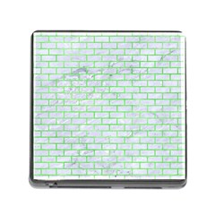 Brick1 White Marble & Green Watercolor (r) Memory Card Reader (square 5 Slot) by trendistuff