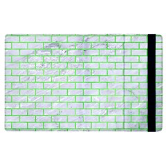 Brick1 White Marble & Green Watercolor (r) Apple Ipad 3/4 Flip Case by trendistuff