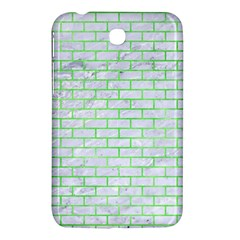 Brick1 White Marble & Green Watercolor (r) Samsung Galaxy Tab 3 (7 ) P3200 Hardshell Case  by trendistuff