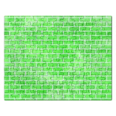 Brick1 White Marble & Green Watercolor Rectangular Jigsaw Puzzl