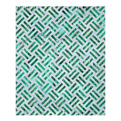 Woven2 White Marble & Green Marble (r) Shower Curtain 60  X 72  (medium)  by trendistuff