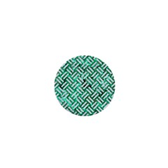 Woven2 White Marble & Green Marble 1  Mini Buttons by trendistuff