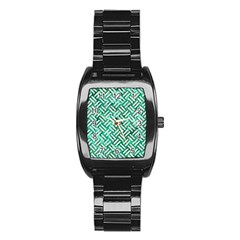 Woven2 White Marble & Green Marble Stainless Steel Barrel Watch