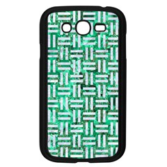 Woven1 White Marble & Green Marble Samsung Galaxy Grand Duos I9082 Case (black) by trendistuff