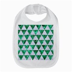 Triangle3 White Marble & Green Marble Bib by trendistuff