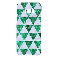 Triangle3 White Marble & Green Marble Samsung Galaxy S8 Plus Hardshell Case  by trendistuff