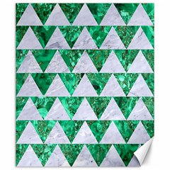 Triangle2 White Marble & Green Marble Canvas 20  X 24   by trendistuff