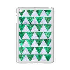 Triangle2 White Marble & Green Marble Ipad Mini 2 Enamel Coated Cases by trendistuff