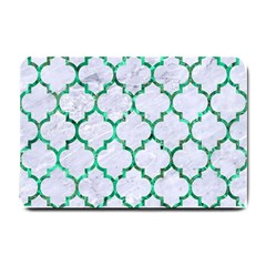 Tile1 (r) White Marble & Green Marble Small Doormat
