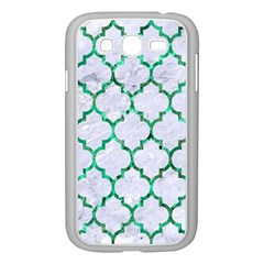 Tile1 (r) White Marble & Green Marble Samsung Galaxy Grand Duos I9082 Case (white) by trendistuff