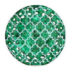 Tile1 White Marble & Green Marble Ornament (round Filigree) by trendistuff