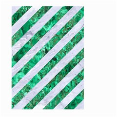 Stripes3 White Marble & Green Marble (r) Large Garden Flag (two Sides) by trendistuff