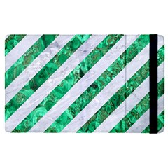 Stripes3 White Marble & Green Marble (r) Ipad Mini 4 by trendistuff