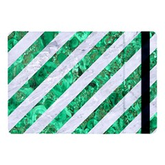 Stripes3 White Marble & Green Marble (r) Apple Ipad 9 7