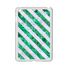 Stripes3 White Marble & Green Marble Ipad Mini 2 Enamel Coated Cases by trendistuff