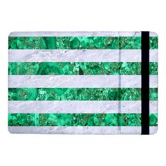 Stripes2 White Marble & Green Marble Samsung Galaxy Tab Pro 10 1  Flip Case by trendistuff