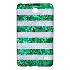 Stripes2 White Marble & Green Marble Samsung Galaxy Tab 4 (8 ) Hardshell Case  by trendistuff