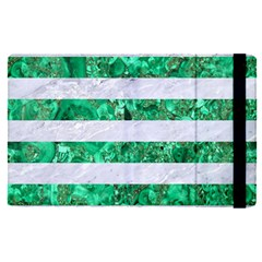 Stripes2 White Marble & Green Marble Ipad Mini 4 by trendistuff