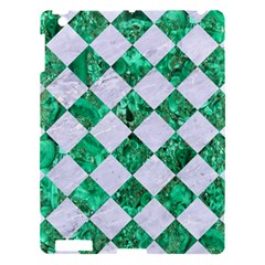 Square2 White Marble & Green Marble Apple Ipad 3/4 Hardshell Case by trendistuff