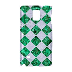 Square2 White Marble & Green Marble Samsung Galaxy Note 4 Hardshell Case by trendistuff