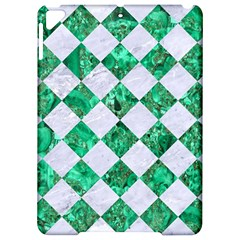 Square2 White Marble & Green Marble Apple Ipad Pro 9 7   Hardshell Case by trendistuff